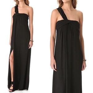 Halston Heritage Twist One Shoulder Gown Dress
